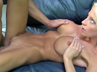 Dissolute Blondie With Fake Hooters Rikki Six Banged In Missionary Pose