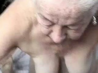 Wondrous Perverted Wrinkled And Too Old Lady Sucked Neighbor's Cock