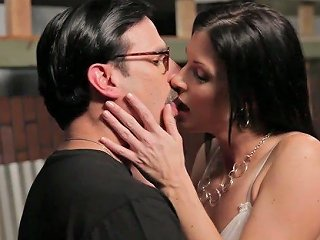 India Summer Fucks With Nerdy Stud While Blindfolded Mustached Dude Seeks For Them