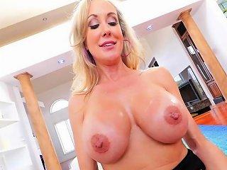 Busty Cougar Sucks Cock