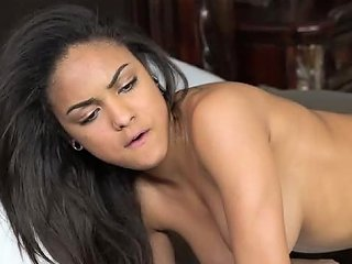 Beefcake Dude Pleasures Yummy Latina Gf With His Small Cock In Doggy And Reverse Poses