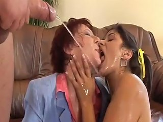 Anal Loving Teen And Milf Gives A Hot Rimjob For Our Boss