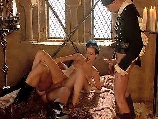 Duble Penetration For Sexy Brunette Michelle Wild In Medieval Times