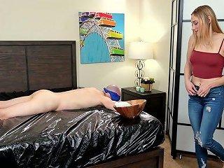 Slutty Girlfriend Kasey Miller Gives A Nuru Massage Before A Steamy Cock Riding
