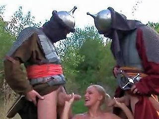 Medieval Knights Fuck Captured Princess Part 1 Porn BF