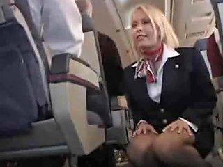 Stewardess Fucked On Her Plane So Hard