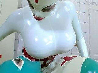 Horny Fancy Sweetie Clanddi Jinkcego Makes Love With Her Delicious Kooky In Latex Suit