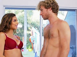 Extra Busty Babe Nina North Sucks Cock By The Pool Porn Videos