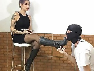 Boot Domination Sock Smell And Trample Mistress Redhead