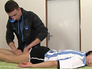 After A Game A Female Soccer Player Gets Massaged And Fucked By A Trainer