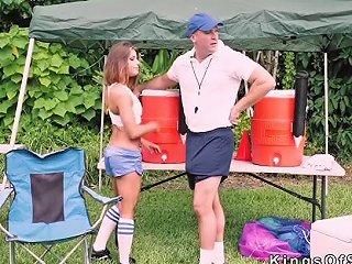 Soccer Coach Bangs Hot Brunette Teen