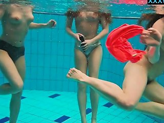 Hot Girls Undress In The Pool Nuvid