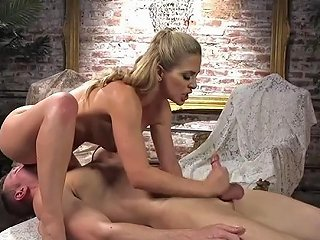 Nasty Cherie Deville Stuffs A Dick With Urethral Sound And Rides It Hard