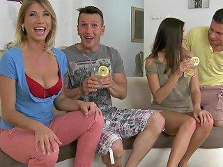 Sexy Swinger Couples Enjoy A Nasty Hardcore Foursome