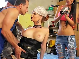 Tarra White Triple Teamed By Two Cocks And One Cunt