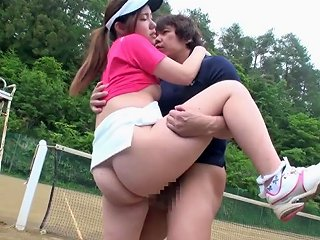 Sporty Japanese Bitch Aya Shiomi Plays Tennis And Gets Fucked Outdoor