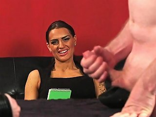 Milf Voyeur Gives Cock Wanking Instructions