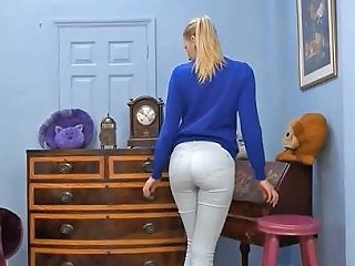 Pantyline Teen Has Very Tight White Jeans Free Hd Porn Eb