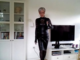 Sissy Sexy Leather Dress 1 Nuvid