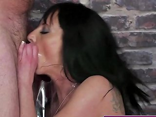 Blowbanged British MILF Facialized By Many