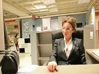 Secretery Louboutin In Furniture Shop Julie Skyhigh