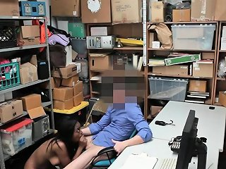 Black Teen Shoplifter Caught And Fucked By Security Drtuber