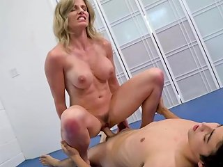 Cory Chase In Step Mom Wrestle Fucks Her Step Son