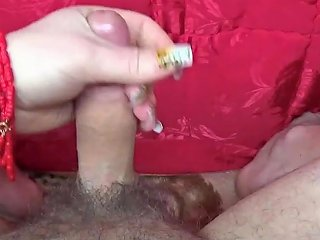 Sexy Amateur Milf And Lucky Man Best Handjob And Big